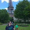 Resa In Front of the Eiffel Tower on the Rue de l'Australie