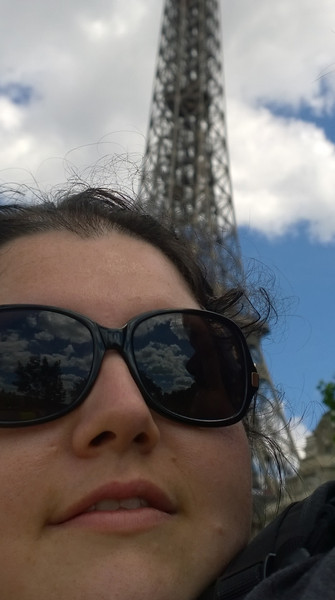 Resa Lookin All Coco Chanel in Front of the Eiffel Tower