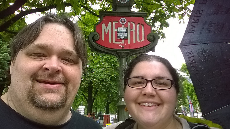 At the Metro on the Champs-Elysees