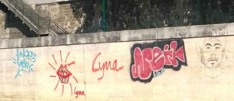 Grafitti on the Seine