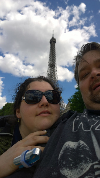 Weird Selfie in Front of the Eiffel Tower