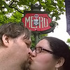 Kissy-face at the Metro on the Champs-Elysees