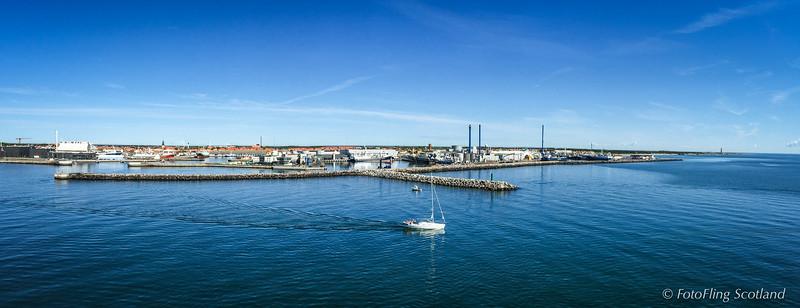 Arrival in Skafen, Denmark