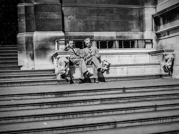 A seat on the steps
