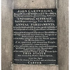 Plaque: Statue of John Cartwright in Bloomsbury, London