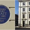 Thomas Henry Wyatt Plaque at 77 Great Russell Street, Bloomsbury, London