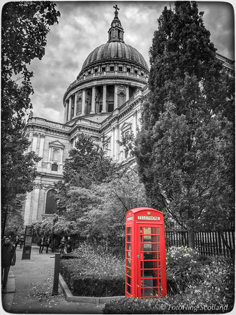 The Phone Box at St Paul's Cathedral