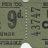 Deck Chair Ticket Stub late 50's