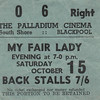 "Ticket Stub ""My Fair Lady"" 1966"