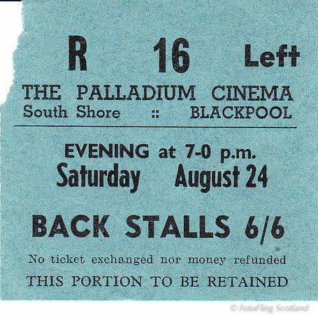 Ticket Stub - Palladium Cinema, Blackpool