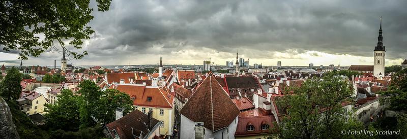 Rooftops of Tallinn, Estonia