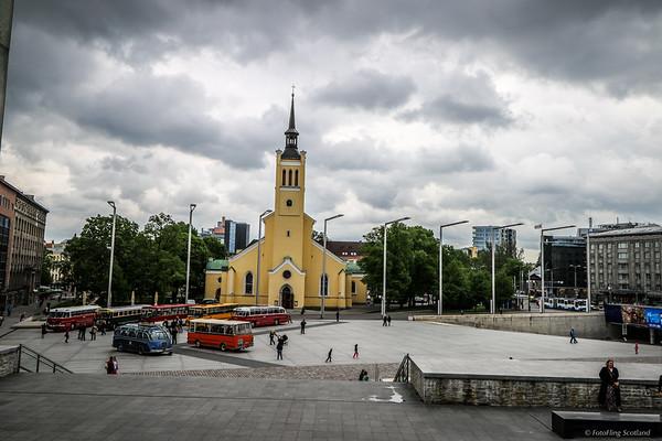 Freedom Square, Tallinn, Estonia.
