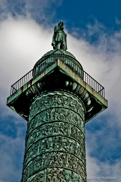 Napoleon's Column in the Place Vendome, Paris