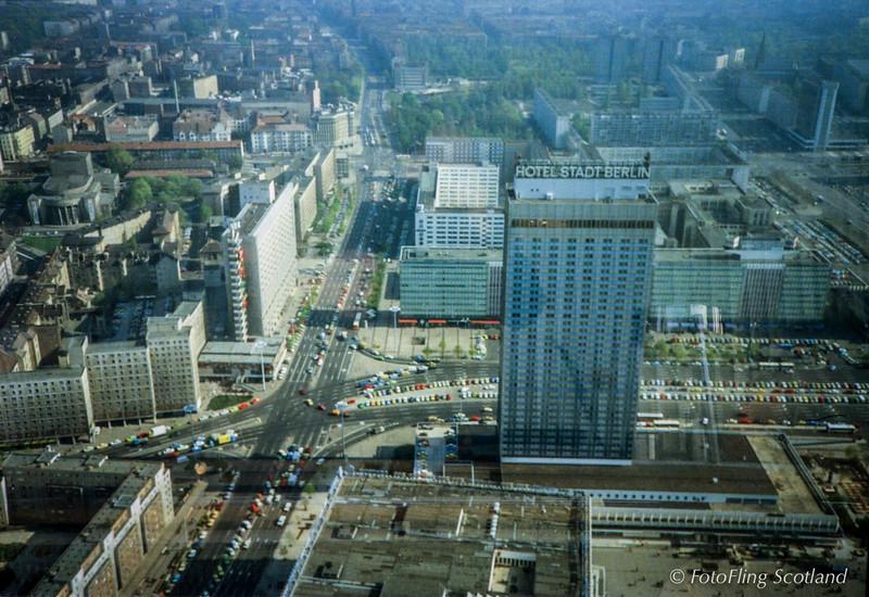 East Berlin - Aerial View 1989