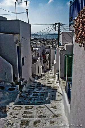 Back streets of Mykonos