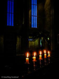 Candles at Hallgrimskirkja,