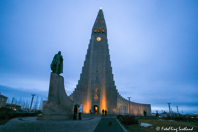 Hallgrimskirkja, Reykjavik & Statue