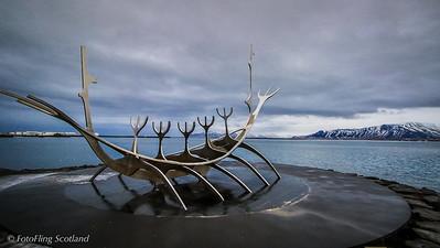 Sculpture & Shore Walk, Reykjavik, Iceland