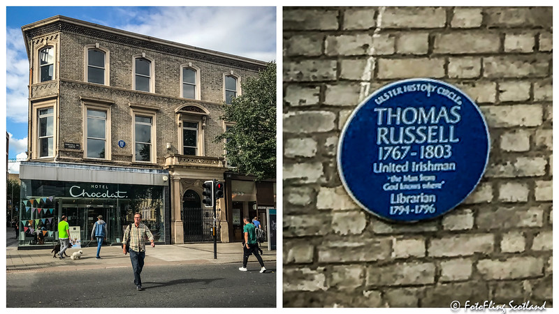 Blue Plaque: Thomas Russell  (Linen Hall Library, Belfast)