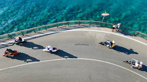 Bikers in Amalfi