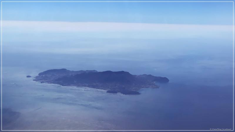 Flying past Ischia