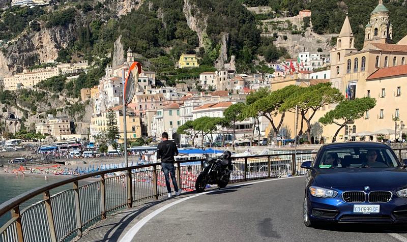 Biker stops to shoot Amalfi
