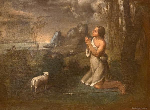 John the Baptist in the Wilderness - Caletti (1600-1641)