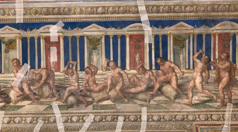 Ceiling Artwork in The Castello Estense