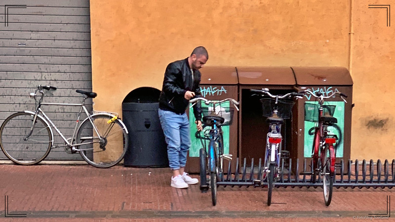 Cyclist in Ferrara
