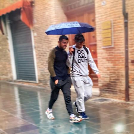 A shared umbrella