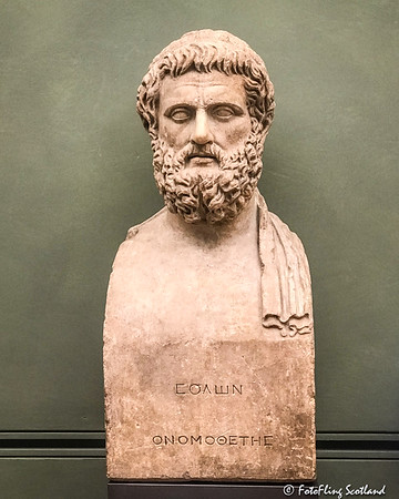 Portrait bust of Sophocles (1-2nd century AD)