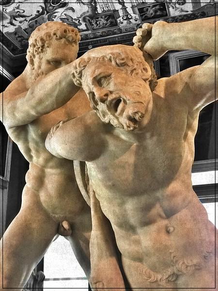 Mensculpture at the Uffizi