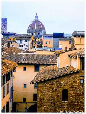 Florence Cathedral from the Uffizi Gallery