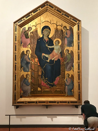Boninsegna: Madona & Child Enthroned with Angels 1285