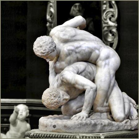 The Wrestlers - Uffizi Gallery