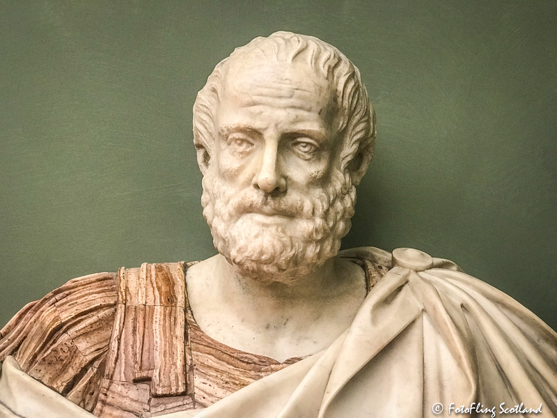 Bust with the head of Aristotle (2nd Century AD)