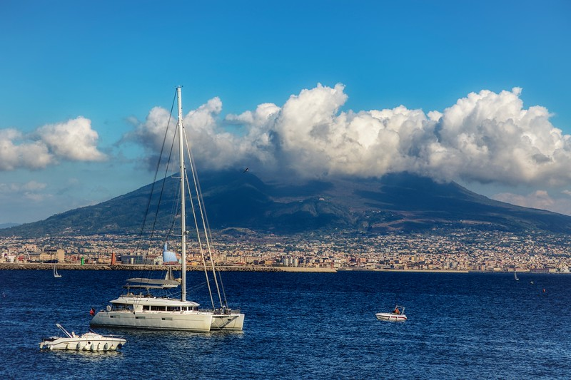 Cloud covered Vesuvius