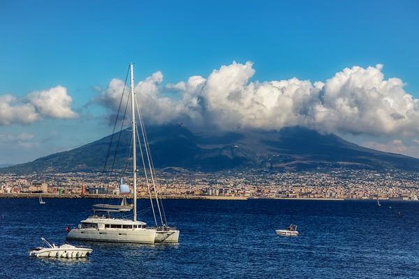 Cloud covered Vesuvius