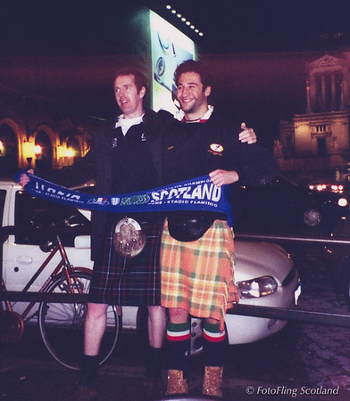 Rugby Supporters in Rome