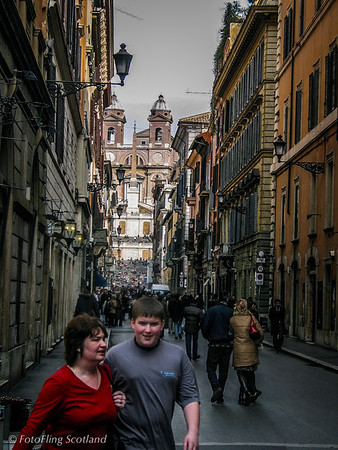 Towards Spanish Steps, Rome