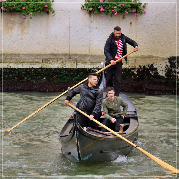 Three Men in a Traghetto