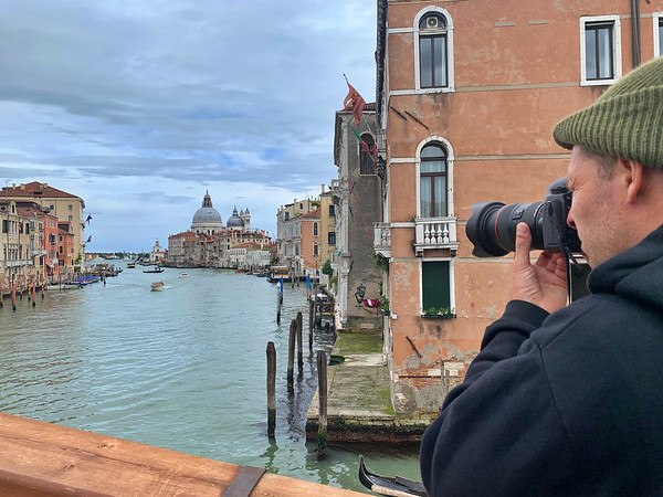 Shooting from Ponte dell' Accademia
