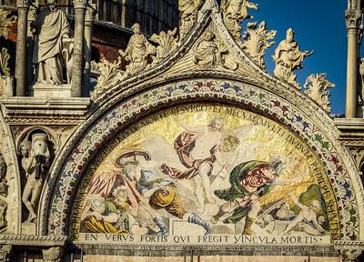 Detail of facade of Basilica di San Marco