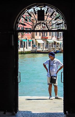 Through a doorway in Murano