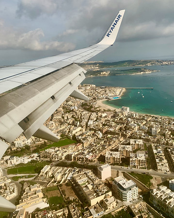 Flying in to Valletta