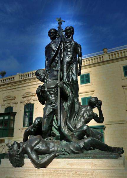 The Sette Giugno Monument, Palace Square, Valletta