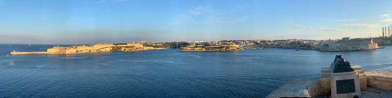Panorama shot from Siege Bell Memorial, Valletta