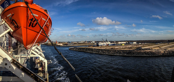 Sailing out of IJmuiden