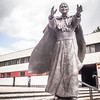 Statue of Pope John Paul II at Arka Pana Church (Lord's Ark) in Bienczyce District of Krakow, Poland
