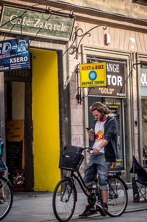 Cyclist in Krakow